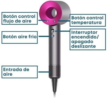 Botones-secador-Dyson